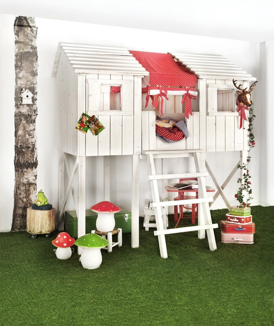 Girls bunk beds with slide - Treehouse Bed Childwood Treehouse Bed At
